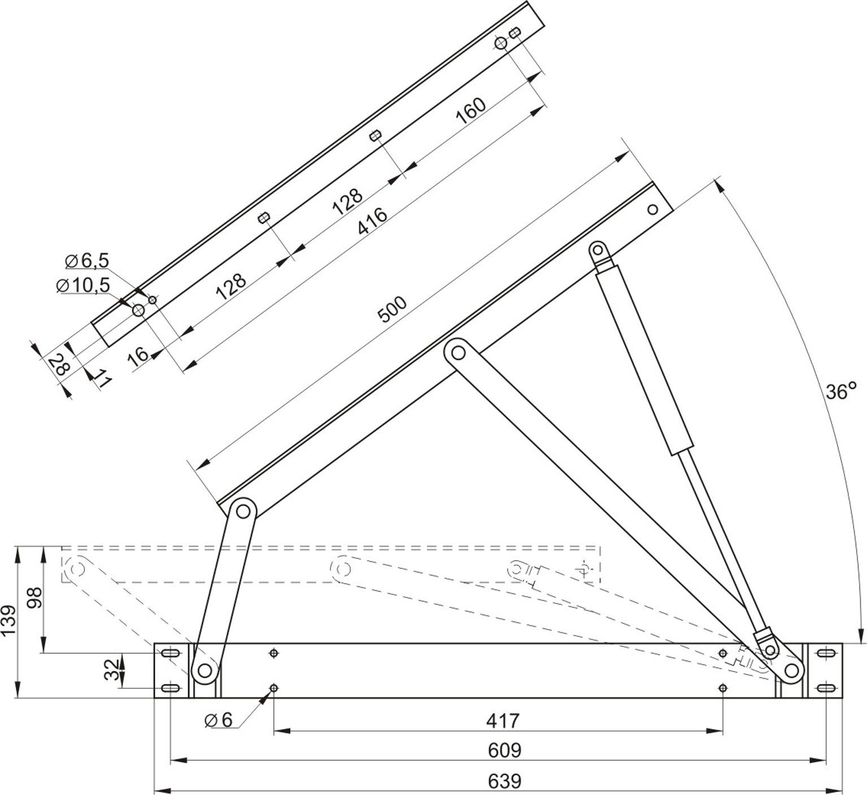 Схема установки подъемного механизма на кровать фото 145